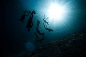 freedivers playing together... awesome day in Dahab, Egypt